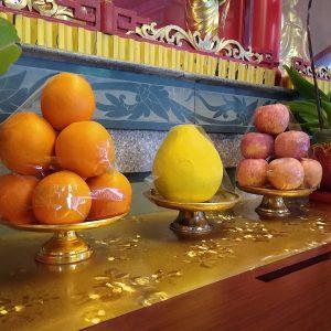 Devotion on altar
